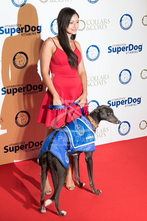 """Battersea, London, November 3rd 2016.  Celebrities and their dogs attend The Evolution at Battersea Park to attend The Battersea Dogs and Cats Home """"Collars and Coats Ball"""". PICTURED: Leah Weller"""