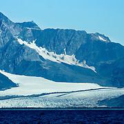 Bear Glacier rmeets Aialik Bay in Kenai Fjords National Park Alaska