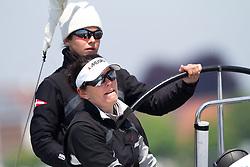 Kathrin Kadelbach (L) and Ulrike Schuemann (R), Ewe Sailing Team. World Match Race Tour. Match Race Germany. Langenargen, Germany. 19 May 2010. Photo: Gareth Cooke/Subzero Images/WMRT