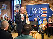 30 JANUARY 2020 - NEWTON, IOWA: Vice President JOE BIDEN speaks during a campaign event in Newton. About 150 people came to Newton, about 30 miles east of Des Moines, to listen to Vice President Biden talk about his reasons for running for President. Biden used the event to outline the differences between himself and President Trump, while President Trump was in Des Moines Thursday campaigning against Democrats, especially Vice President Biden. Iowa hosts the first event of the presidential election cycle. The Iowa Caucuses are Feb. 3, 2020.          PHOTO BY JACK KURTZ