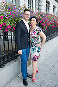 Niall Kerins, General Manager Lisloughrey  and Kathryn Kerins, at the Most Stylish Lady event on ladies day of The Galway Races. Photo:Andrew Downes