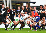 5th September 2010, Twickenham Stoop, London, England: Amy Turner of England in action during the IRB Women's Rugby World Cup final between England and New Zealand Black Ferns. New Zealand won 13-10, capturing the trophy for the 4th time.  (Photo by Andrew Tobin www.slikimages.com)