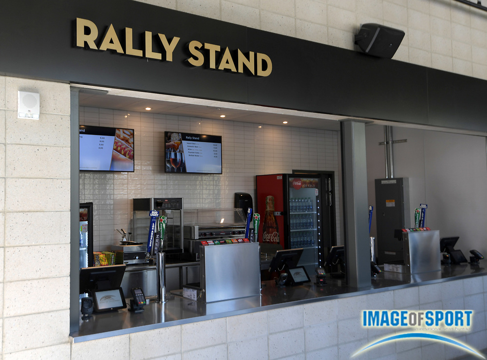 Apr 25, 2018; Los Angeles, CA, USA; Rally Stand at Banc of California Stadium. The venue is the home of the Los Angeles FC of the MLS and is the first open-air stadium built in the City of Los Angeles since 1962. It is constructed on the site of the former Los Angeles Memorial Sports Arena at Exposition Park next to the Los Angeles Memorial Coliseum.