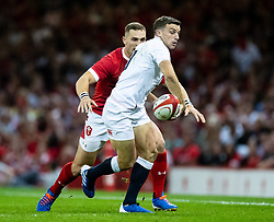 George Ford of England<br /> <br /> Photographer Simon King/Replay Images<br /> <br /> Friendly - Wales v England - Saturday 17th August 2019 - Principality Stadium - Cardiff<br /> <br /> World Copyright © Replay Images . All rights reserved. info@replayimages.co.uk - http://replayimages.co.uk