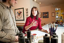 Yukon artist Lynn Blaikie at her Whitehorse studio