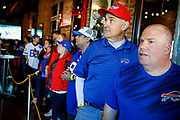 SHOT 12/10/17 12:42:16 PM - Former Buffalo Bills wide receiver and Hall of Fame player Andre Reed signs autographs and meets with fans at LoDo's Bar and Grill in Denver, Co. as the Buffalo Bills played the Indianapolis Colts that Sunday. Reed played wide receiver in the National Football League for 16 seasons, 15 with the Buffalo Bills and one with the Washington Redskins. (Photo by Marc Piscotty / © 2017)