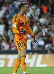 August 20, 2018 - Neto of Valencia in action during the spanish league, La Liga, football match between ValenciaCF and Atletico de Madrid on August 20, 2018 at Mestalla stadium in Valencia, Spain. (Credit Image: © AFP7 via ZUMA Wire)