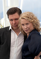 Eero Milonoff and Eva Melander at the Grans (Border) film photo call at the 71st Cannes Film Festival, Friday 11th May 2018, Cannes, France. Photo credit: Doreen Kennedy