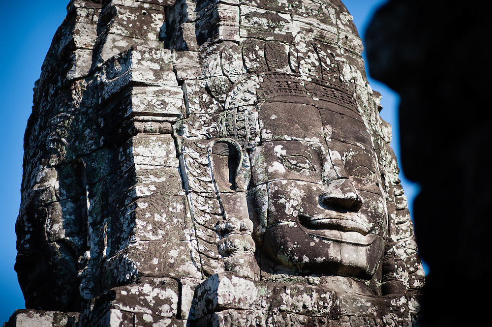 Bayon temple face tower in Angkor (Cambodia)
