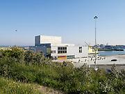 Zuiderstrandtheater, muziek en danstheater. Het Zuiderstrandtheater is het tijdelijke podium voor het Nederlands Dans Theater, het Residentie Orkest en  stichting Dans- en Muziekcentrum Den Haag - Zuiderstrandtheater, The Hague, Netherlands. Temporary stage for Netherlands Dance Theatre (NDT)  and for the Residence Orchestra, also known as The Hague Philharmonic