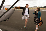Owner of the L-5 talking with a visitor at the Warbirds Over the West.