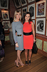 Left to right, LADY EMILY COMPTON and ELLA KRASNER at a lunch hosted by Roger Viver in honour of Bruno Frisoni their creative director, held at Harry's Bar, 26 South Audley Street, London on 31st March 2011.
