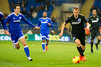Football - 2016 / 2017 Sky Bet [EFL] Championship - Cardiff City vs. Brighton & Hove Albion<br /> <br /> Steve Sidwell of Brighton & Hove Albion attacks , at Cardiff City Stadium.<br /> <br /> COLORSPORT/WINSTON BYNORTH