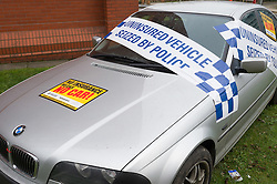 A uninsured BMW sized by South Yorkshire Police
