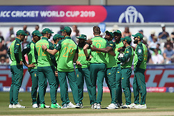 June 28, 2019 - Chester Le Street, County Durham, United Kingdom - South Africa's Chris Morris after bowling Sri Lanka's Angelo Mathews during the ICC Cricket World Cup 2019 match between Sri Lanka and South Africa at Emirates Riverside, Chester le Street on Friday 28th June 2019. (Credit Image: © Mi News/NurPhoto via ZUMA Press)