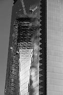New York, WTC 4, World trade center four mirror tower under construction / La tour World trade center 4 , WTC4 , en construction