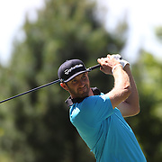 Dustin Johnson, USA, in action during the second round of the Travelers Championship at the TPC River Highlands, Cromwell, Connecticut, USA. 20th June 2014. Photo Tim Clayton