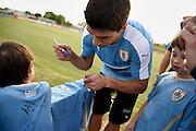 Nicolas Celaya/ URUGUAY/ CANELONES/ COMPLEJO URUGUAY CELESTE<br /> En la foto, Entrenamiento de la seleccion mayor de futbol previo a una fecha de eliminatorias ante Brasil para el mundial Rusia 2018, en el Complejo de Alto Rendimiento de AUF. Nicolás Celaya /adhocFotos<br /> 2016 - 21 de marzo - lunes