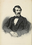 Portrait of Reverend David Livingstone From book ' Missionary travels and researches in South Africa : including a sketch of sixteen years' residence in the interior of Africa, and a journey from the Cape of Good Hope to Loanda, on the west coast, thence across the continent, down the river Zambesi, to the eastern ocean ' by David Livingstone Published in London in 1857
