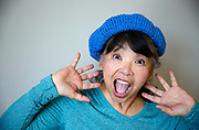 Surprised Senior Asian Woman