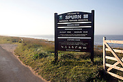 National Nature Reserve sign, Spurn Head, Yorkshire, England