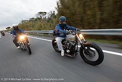 Hiroaki Yoshida riding his Harley-Davidson Shovelhead on the SureShot ride around Chiba, Japan. Saturday, December 8, 2018. Photography ©2018 Michael Lichter.