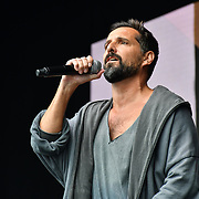 Ricardo Afonso perfroms at West End Live 2019 in Trafalgar Square, on 22 June 2019, London, UK.