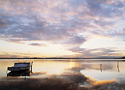 Old Fishing Boat at Sunset on Lake Macquarie - East Coast Australia