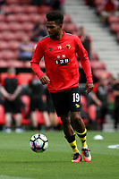 Football - 2016 / 2017 Premier League - Southampton vs. Watford<br /> Jerome Sinclair of Watford before kick off at St Mary's Stadium Southampton <br /> <br /> Colorsport/Shaun Boggust
