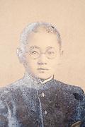 young student in school uniform formal portrait Japan ca 1930s