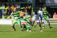 Forest Green Rovers Liam Noble(15) challenges for the ball during the Vanarama National League match between Forest Green Rovers and Maidstone United at the New Lawn, Forest Green, United Kingdom on 22 April 2017. Photo by Shane Healey.