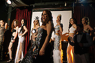Women line up on stage as fellow contestants and hosts introduce them infront of the eager crowd at the Trans Beauty Pageant, organised by Angel of Turkey to raise awareness, break stereotypes and halp financially towards a shelter for Trans women in the city.
