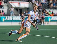 AMSTELVEEN -  Sian Keil (Oranje Rood)  tijdens de hockey hoofdklasse competitiewedstrijd  dames, Amsterdam-Oranje Rood (2-1).  COPYRIGHT KOEN SUYK