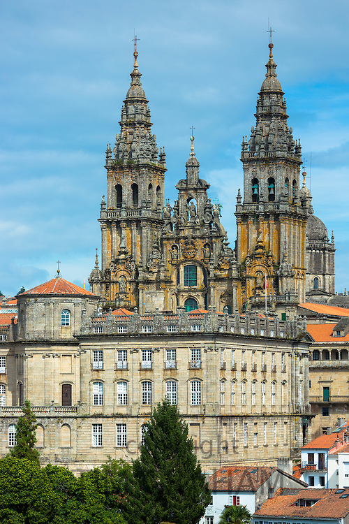 Catedral de Santiago de Compostela, Roman Catholic cathedral, cityscape in Galicia, Northern Spain