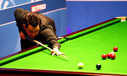 Ronnie O'Sullivan on his way to making a break of 146 against Ding Junhui, on day twelve of the Betfred Snooker World Championships at the Crucible Theatre, Sheffield. PRESS ASSOCIATION Photo. Picture date: Wednesday April 26, 2017. See PA story SNOOKER World. Photo credit should read: Martin Rickett/PA Wire