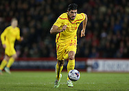 Emre Can during the Capital One Cup match between Bournemouth and Liverpool at the Goldsands Stadium, Bournemouth, England on 17 December 2014.