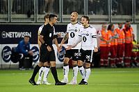 Vålerenga VIF - Rosenborg RBK , 01.09.2019 Intility Arena , Mike Jensen får rødt, protesterer med Tore Reginiussen ,   Foto: Eirik Førde