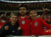 Photo: Tony Oudot/Richard Lane Photography.  England v Czech Republic. International match. 20/08/2008. <br /> Young England fans at the game .
