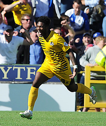 Ellis Harrison of Bristol Rovers celebrates his sides goal - Photo mandatory by-line: Harry Trump/JMP - Mobile: 07966 386802 - 15/08/15 - SPORT - FOOTBALL - Sky Bet League Two - Yeovil Town v Bristol Rovers - Huish Park, Yeovil, England.