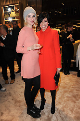 Left to right, singers RAMONA and SHARLEEN SPITERI at a Cocktail party to celebrate the opening of the new Miu Miu boutique, 150 New Bond Street, London hosted by Miuccia Prada and Patrizio Bertelli on 3rd December 2010.