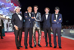 """Jim Carrey, Chris Smith (director), Danny Gabai, Eddy Moretti with Alberto Barbera (chairman of the Mostra) arriving to the premiere of """"Jim & Andy: the Great Beyond - the Story of Jim Carrey & Andy Kaufman with a Very Special, Contractually Obligated Mention of Tony Clifton"""" as part of the 74th Venice International Film Festival (Mostra) in Venice, Italy on September 5, 2017. Photo by Marco Piovanotto/ABACAPRESS.COM"""