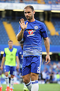 Chelsea defender and captain Branislav Ivanovic (2) waving during the EFL Cup match between Chelsea and Bristol Rovers at Stamford Bridge, London, England on 23 August 2016. Photo by Matthew Redman.