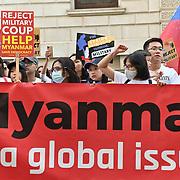 Hundreds Burmese protest for a Revolution in London, UK