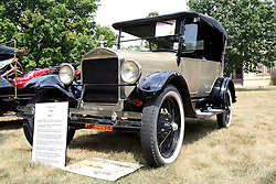 04 August 2012:  1927 Ford Model T Touring car displayed at the McLean County Antique Automobile Club Show at the David Davis Mansion, Bloomington IL