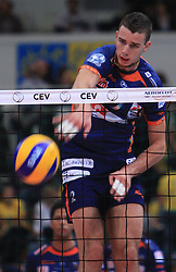 Alen Pajenk at volleyball match of CEV Indesit Champions League Men 2008/2009 between Trentino Volley (ITA) and ACH Volley Bled (SLO), on November 4, 2008 in Palatrento, Italy. (Photo by Vid Ponikvar / Sportida)