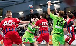 15.10.2016, Halle Hollgasse, Wien, AUT, HLA, SG INSIGNIS Handball WESTWIEN vs HC Fivers WAT Margareten, Grunddurchgang, 8. Runde, im Bild Nikola Aljetic (Fivers), Erwin Feuchtmann Perez (WestWien), Thomas Seidl (Fivers), Philipp Rabenseifer (WestWien), Vincent Schweiger (Fivers) // during Handball League Austria, 8 th round match between HC Fivers WAT Margareten and SG INSIGNIS Handball WESTWIEN at the Halle Hollgasse, Vienna, Austria on 2016/10/15, EXPA Pictures © 2016, PhotoCredit: EXPA/ Sebastian Pucher