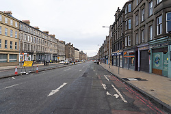Edinburgh, Scotland, UK. 18 March 2020. Coronavirus scare leads to empty streets in Edinburgh  such as Leith Walk shown during normally busy morning rush hour. Edinburgh,. Iain Masterton/Alamy Live News.