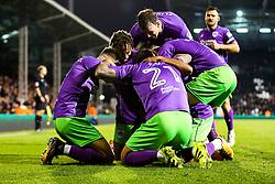 Korey Smith of Bristol City celebrates scoring a goal to make it 0-2 - Rogan/JMP - 31/10/2017 - Craven Cottage - London, England - Fulham FC v Bristol City - Sky Bet Championship.