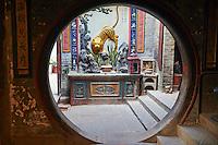 Chine, Hong Kong, Hong Kong Island, temple de Tin Hau // China, Hong-Kong, Hong Kong Island, Tin Hau temple