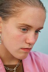 Portrait of sad girl.